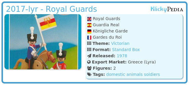 Playmobil 2017-lyr - Royal Guards