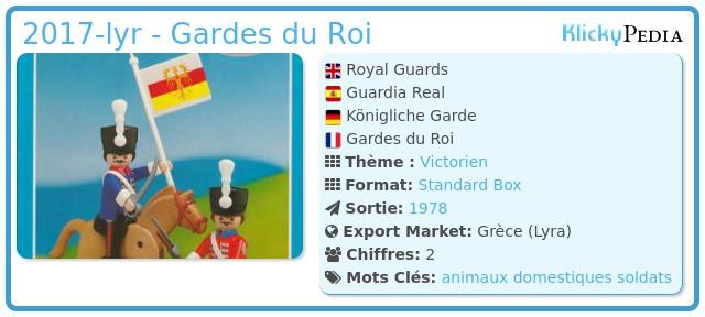 Playmobil 2017-lyr - Gardes du Roi