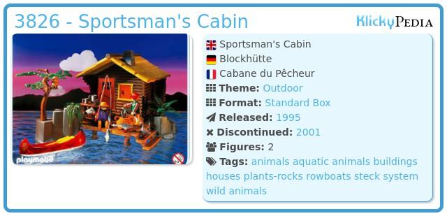 Playmobil 3826 - Sportsman's Cabin