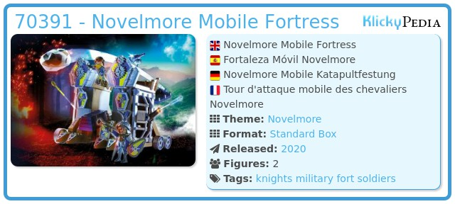 Playmobil 70391 - Novelmore Mobile Fortress