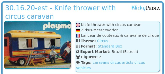 Playmobil 30.16.20-est - Knife thrower with circus caravan