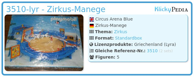 Playmobil 3510-lyr - Zirkus-Manege