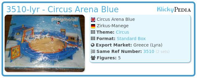 Playmobil 3510-lyr - Circus Arena Blue