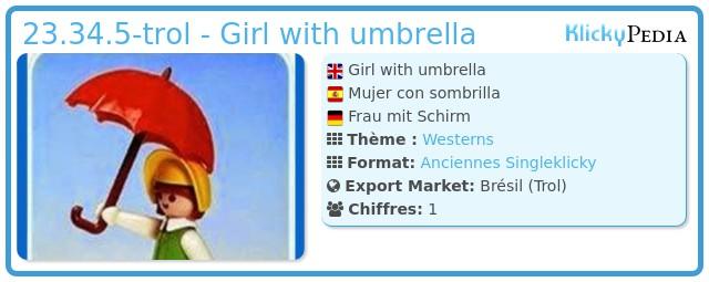 Playmobil 23.34.5-trol - Girl with umbrella