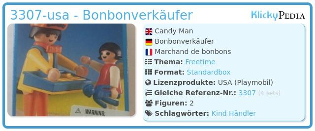 Playmobil 3307-usa - Candy Man