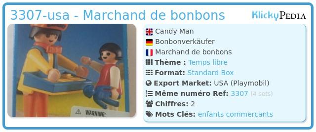 Playmobil 3307-usa - Marchand de bonbons