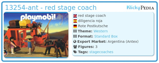 Playmobil 13254-ant - red stage coach