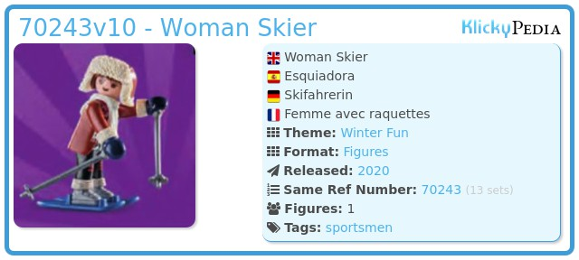Playmobil 70243v10 - Woman Skier