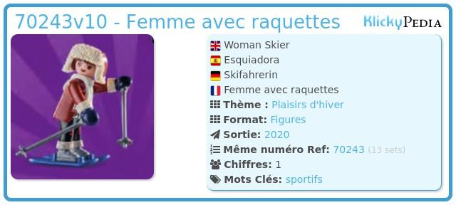 Playmobil 70243v10 - Femme avec raquettes