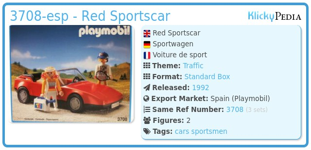 Playmobil 3708-esp - Red Sportscar