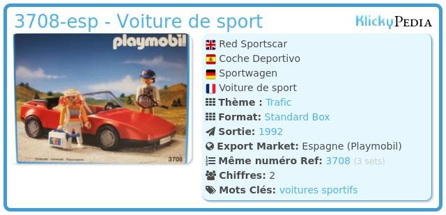 Playmobil 3708-esp - Voiture de sport