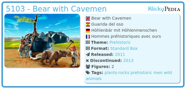 Playmobil 5103 - Bear with Cavemen