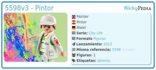 Playmobil 5598v3 - Pintor