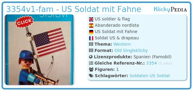 Playmobil 3354v1-fam - US Soldat mit Fahne