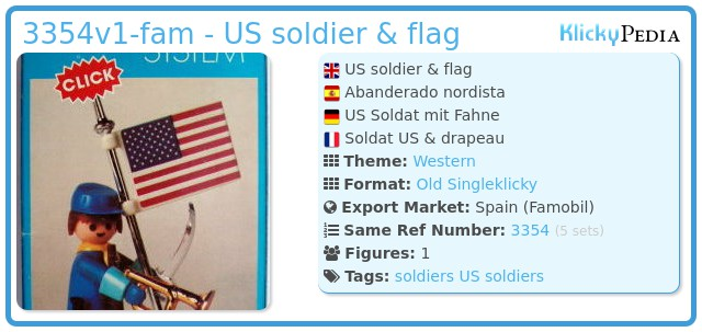 Playmobil 3354v1-fam - US soldier & flag