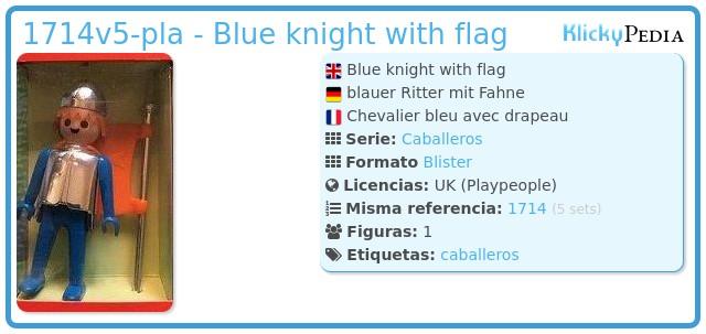Playmobil 1714v5-pla - Blue knight with flag