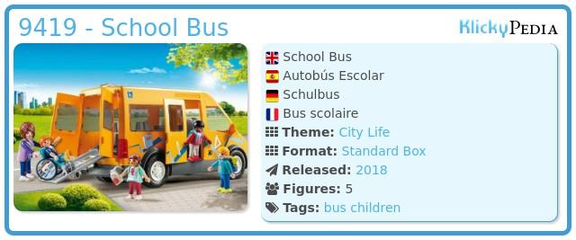 Playmobil 9419 - School Bus