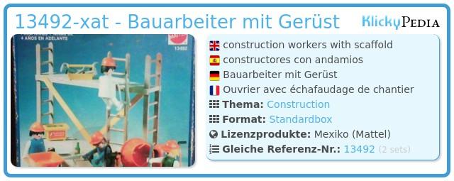 Playmobil 13492-xat - Bauarbeiter mit Gerüst