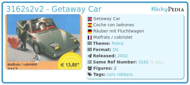 Playmobil 3162s2v2 - Getaway Car