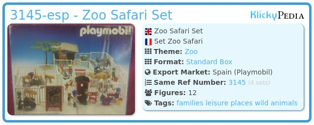 Playmobil 3145-esp - Zoo Safari Set