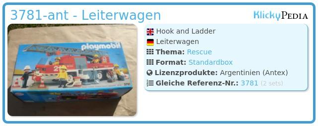 Playmobil 3781-ant - Leiterwagen
