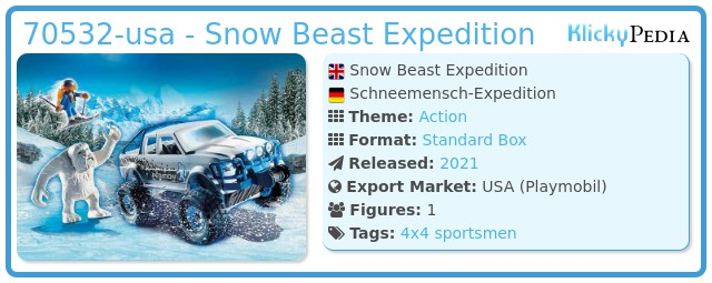 Playmobil 70532-usa - Snow Beast Expedition
