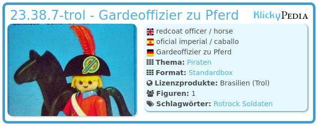 Playmobil 23.38.7-trol - Gardeoffizier zu Pferd