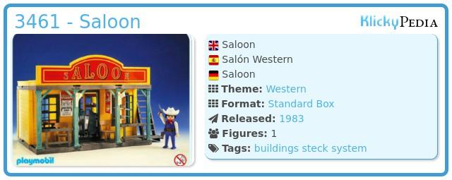 Playmobil 3461 - Saloon