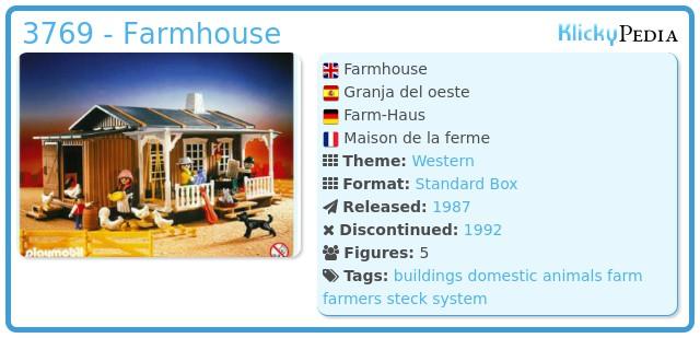 Playmobil 3769 - Farmhouse