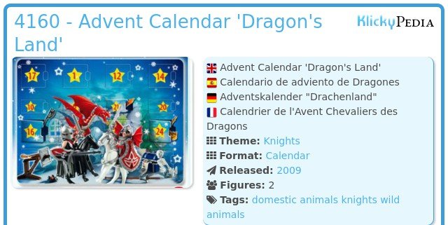 Playmobil 4160 - Advent Calendar 'Dragon's Land'