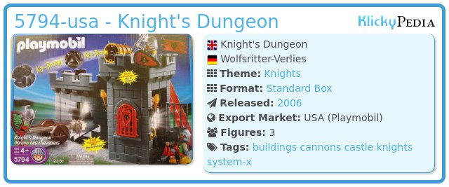 Playmobil 5794-usa - Knight's Dungeon