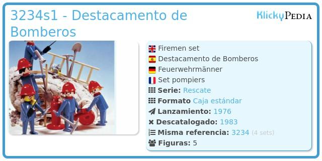 Playmobil 3234s1 - Destacamento de Bomberos