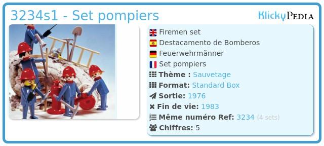 Playmobil 3234s1 - Set pompiers