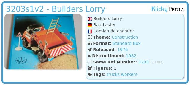Playmobil 3203s1v2 - Construction Truck
