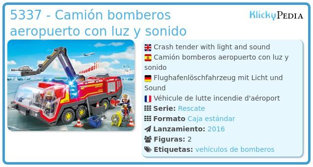 Playmobil 5337 - Camión bomberos aeropuerto con luz y sonido