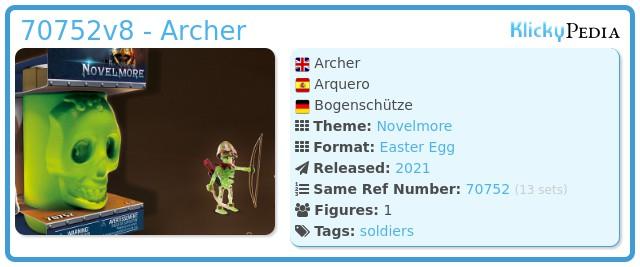 Playmobil 70752v2 - Archer