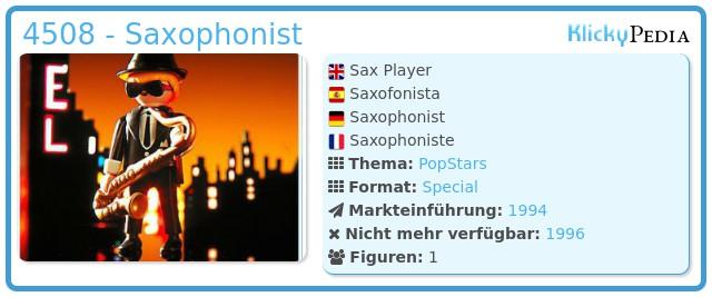 Playmobil 4508 - Saxophonist