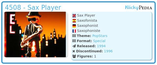 Playmobil 4508 - Sax Player