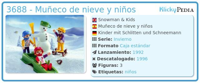 Playmobil 3688 - Muñeco de nieve y niños