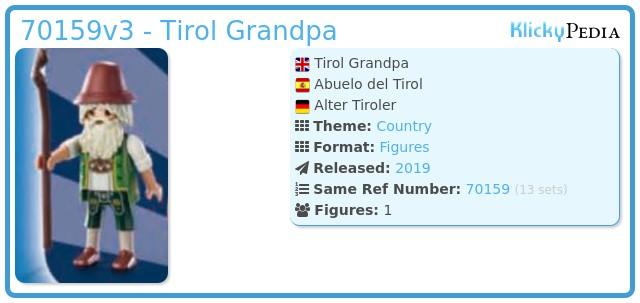 Playmobil 70159v3 - Tirol Grandpa