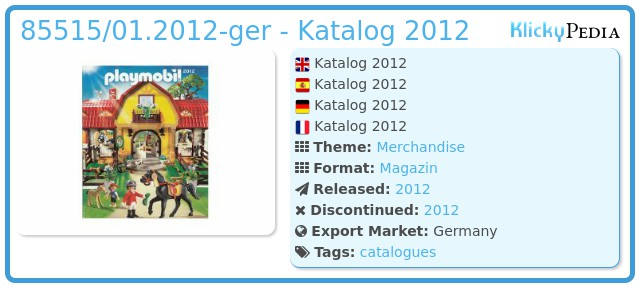 Playmobil 85515/01.2012-ger - Katalog 2012