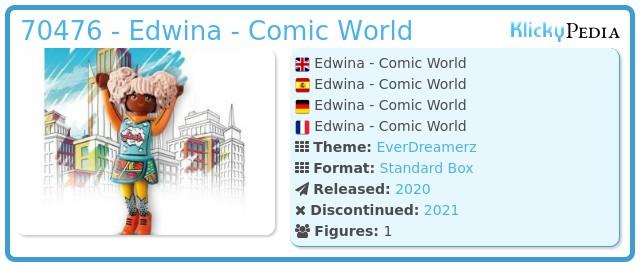 Playmobil 70476 - Edwina - Comic World