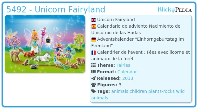 Playmobil 5492 - Unicorn Fairyland