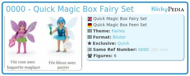 Playmobil 0000 - Quick Magic Box Fairy Set