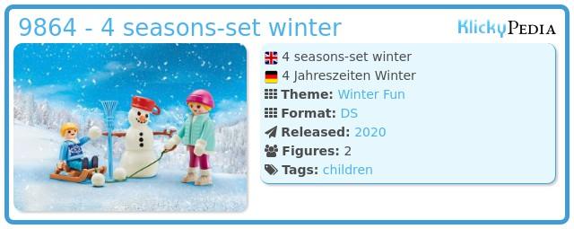 Playmobil 9864 - 4 seasons-set winter