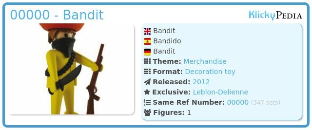 Playmobil 00000 - Bandit