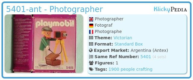 Playmobil 5401-ant - Photographer