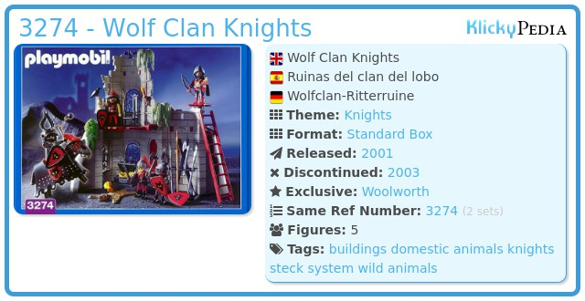 Playmobil 3274 - Wolf Clan Knights