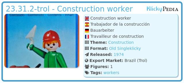 Playmobil 23.31.2-trol - Construction worker