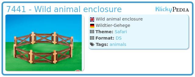 Playmobil 7441 - Wild animal enclosure
